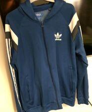 Men's Adidas Original Navy Blue & White Trefoil Hoodie Tracksuit Jacket L Bnwot