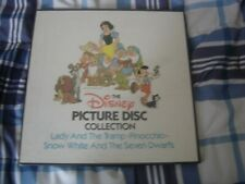 The Disney Picture Disc Collection 3 DISC SEALED! PINOCHIO,SNOW WHITE, AND LADY.