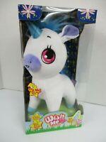 Wish Me Unicorn Plush Wish Upon Glow White Blue Lights Up Makes Sound New in Box