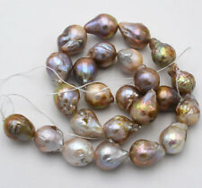 "Natural 14x18mm Multicolor Baroque Edison Reborn Keshi Pearl loose beads 15""AAA"
