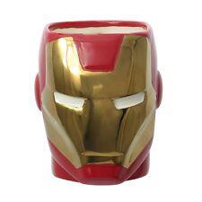 "Marvel Avengers Iron Man 3D Ceramic Molded Head 4.5"" Mug 12oz Cup NEW"