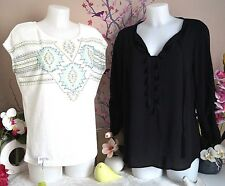 "Lot vêtements occasion femme - Haut "" Carminn "" Blouse "" Ema Blue's "" - T : 40"