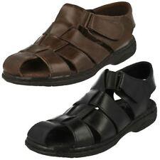 Unbranded Strapped Sandals 100% Leather Upper Shoes for Men