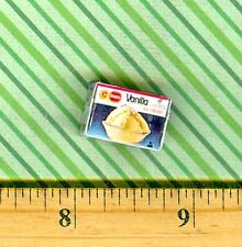 Dollhouse Miniatures  Size Vanilla ICE CREAM box  # B