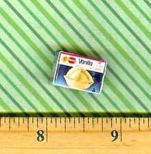 Dollhouse Miniatures  Size Vanilla ICE CREAM box  # B