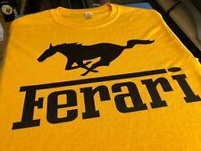 Ferari Shirt Ferrari Youtube CAR BROS Yellow