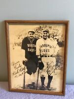 Two Framed Babe Ruth/Lou Gehrig Photos- Bustin Babes & Larrupin Louis & Lou/wife