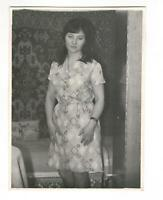1970s young woman girl portrait people fashion USSR vintage photo y