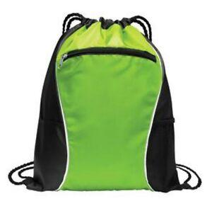 String Drawstring Backpack Cinch Sack Gym Tote Bag School Sport Pack
