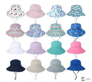 Bucket Hat kids Boy Girl Adjustable Sun Protection Cap Unisex beach sport school