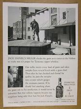1963 Jack Daniel's miller checking truck load of grain photo vintage print Ad