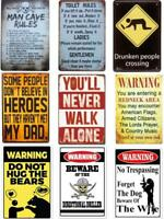 Metal Tin Warning Sign Beware Wall Decor Home Art Poster Bar Pub Club Man Cave