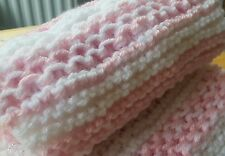 Knitting Patterns Baby Blankets-3 for £2.50 free p&p.Chinese Waves/Block/Seed
