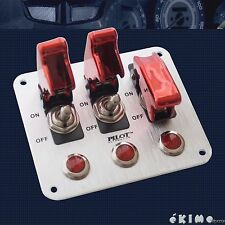 3 Row Red Safety Cover Aircraft Toggle Switch for fog, driving, LED, Neon light