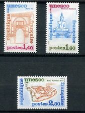 STAMP TIMBRE FRANCE NEUF SERVICE N ° 68/70 ** UNESCO / ARCHITECTURE