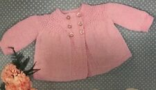 FCb65 - Knitting Pattern - Baby's 4-ply Matinee Cardigan / Coat 18 (20) ins.