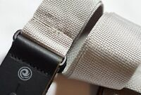 "Planet Waves Silver Gray Nylon Guitar Strap 50mm PWS105 2"" NEW Electric Acoustic"