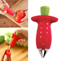 Rot Strawberry Tomato Stem Leaves Huller Remover Fruit Corer Home Kitchen Tool