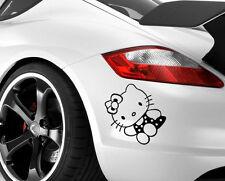 Hello kitty autocollant voiture autocollant vinyle fenêtre ordinateur portable drôle pare-chocs mur jdm couleur