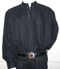 Nouveau Gothique/Pirate/Médiéval Déguisement Chemise en coton, noir M