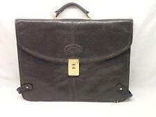 Oroton Vintage Black Leather Attache Briefcase Made in Australia