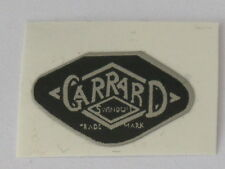 Garrard 4hf Etc Replacement Stick on Logo 1970s Black Parts