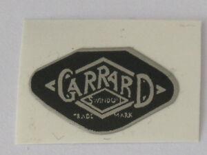 GARRARD 4HF,ETC REPLACEMENT STICK ON LOGO,1970s, Black,Parts