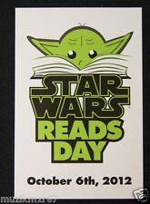 SDCC Comic Con 2012 Handout STAR WARS READS DAY Lobby Card JODA!