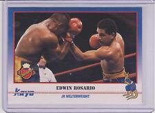 1991 KAYO EDWIN ROSARIO BOXING CARD #162 ~ TOA BAJA PUERTO RICO