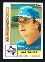 Doug Rader #412 signed autograph auto 1984 Topps Baseball Trading Card