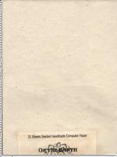 "Computer Safe Seed Paper -  Lotka Fiber  8.5"" x 11"" Pack of 25"