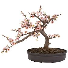 Cherry Blossom Silk Artificial Bonsai Tree Pink Flowers Nearly Natural MPN 4764