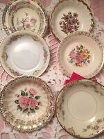 12 - Vintage Mismatched Dessert Bowls Wedding Mad Hatter Shabby Cottage #73