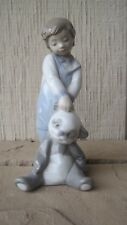 Lladro First Discoveries Boy With Best Friend Stuffed Bear 6974