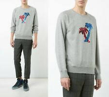 Marc Jacobs Grey Sequin Embroidered Palm Tree Men's Sweater Sz S NWT $490
