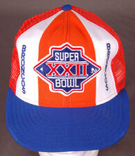 Vtg Denver Broncos Hat/Cap-Super Bowl XXII-Lucky Stripe-Patch-Snapback-NFL-AJD..
