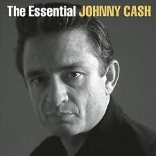 JOHNNY CASH 2 CD SET THE ESSENTIAL WAYLON JENNINGS MARTY ROBBINS BOB DYLAN U2