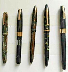 LOT of 5 Vintage Fountain Pens