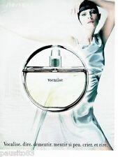 PUBLICITE ADVERTISING 106  1998  le parfum femme Shiseido  pour femme Vocalise