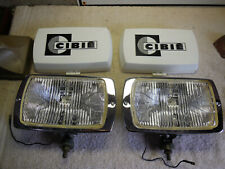 Cibie 175 genuine clear fog lamp pair, new, complete, working, w/bulbs & covers