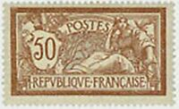"""FRANCE STAMP TIMBRE YVERT N° 120 """" TYPE MERSON , 50 C BRUN ET GRIS """" NEUF x TB"""