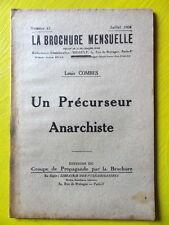 Anarchie La Brochure Mensuelle 43 1926 Combes Un Précurseur Anarchiste Diogène