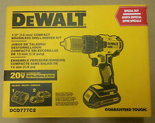 Dewalt DCD777C2 20V MAX Cordless Lithium-Ion Compact Brushless Drill Driver Kit