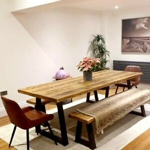 Rustic dining table sets  length 160cm ( Table and 2 benches)