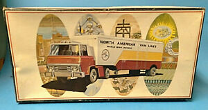 vtg AMT north american van lines truck semi cab and box only 1/25 model kit
