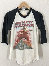 Vintage 1983 Sammy Hagar Burning Through Texas Concert Tour Raglan T-shirt Sz S