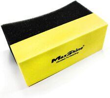 Maxshine Curved Foam Tire Dressing Applicator Waxing Sponge-Pack of 3/6/12