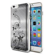 Metal Black Flowers Design Hard Back Case Cover Skin For Various Phones