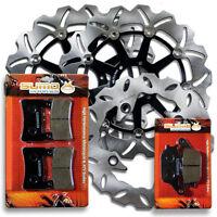 Honda F+R High Performance Brake Disc Rotor + Pads CBR 600 F4 (1999-2000)