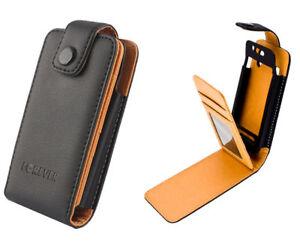 Étui pour Téléphone Portable Housse Noir Sacoche à Clapet sony Xperia